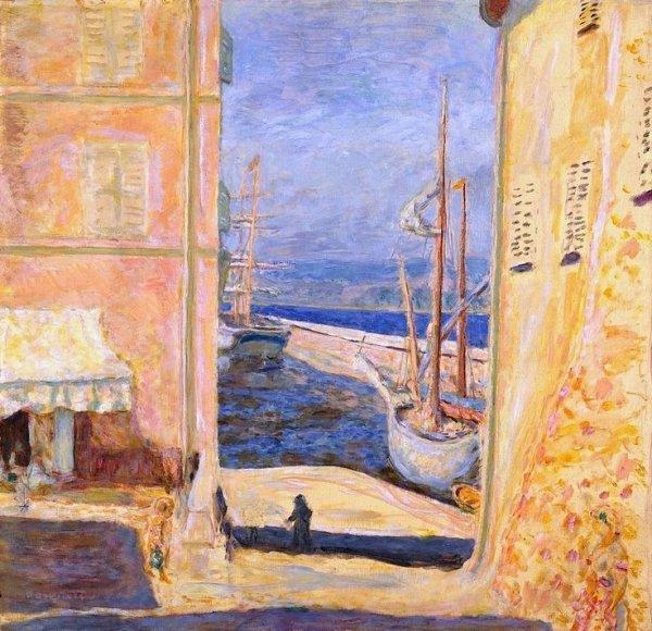 View of the Old Port, Saint-Tropez - Bonnard