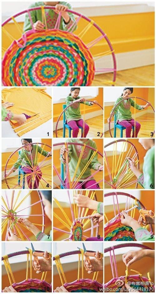 Weaving with a Hula Hoop