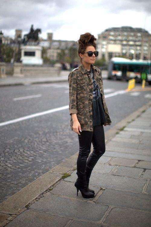 Jacket + Leather Pants