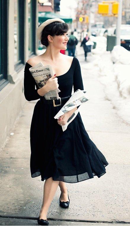 black,dress,white,clothing,woman,