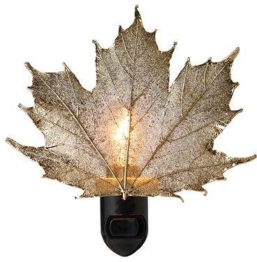 Real Sugar Maple Leaf Night Light