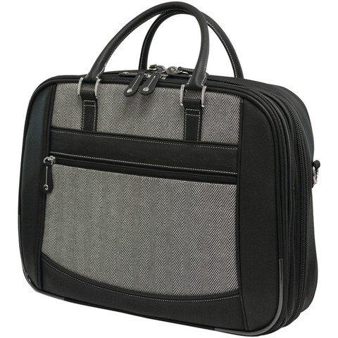"Mobile Edge 16"" Herringbone Small Checkpoint Friendly Laptop Bag"