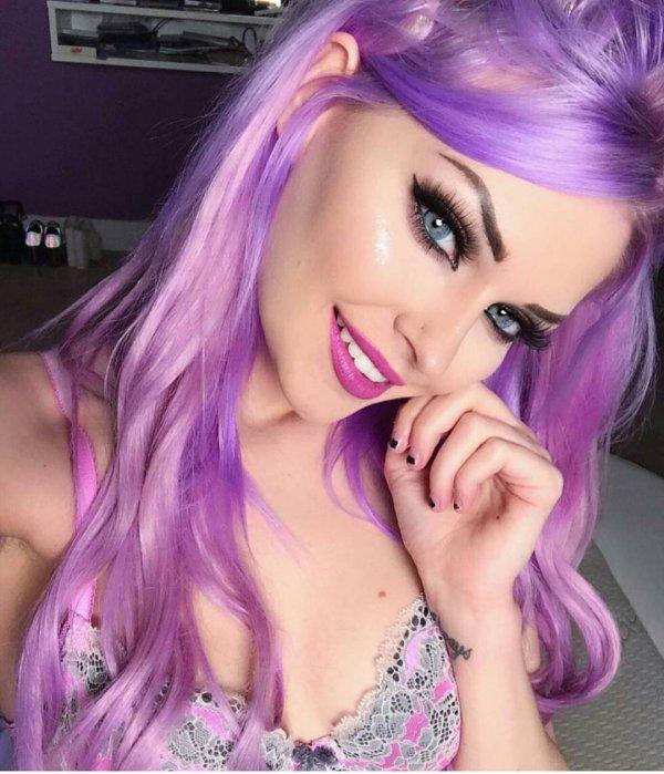 hair, pink, purple, human hair color, eyebrow,