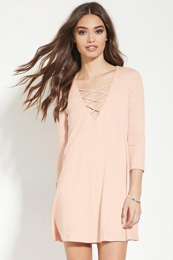 Crisscross-Front Dress