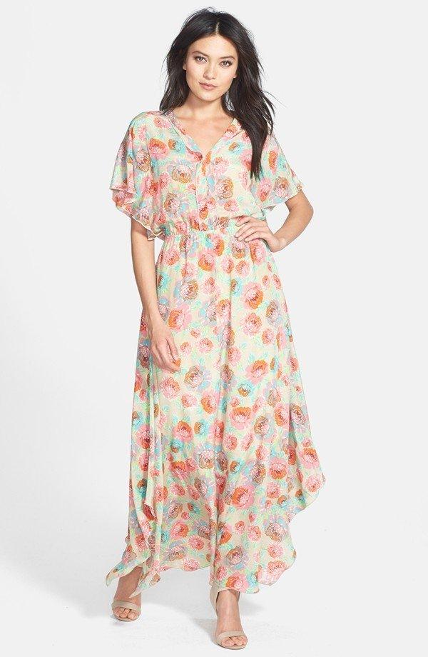 'Delilah' Floral Silk Maxi Dress