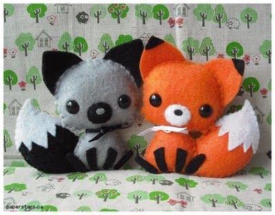 Fox Felt Plushies