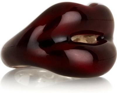 Solange Azagury-Partridge Hot Lips Ring