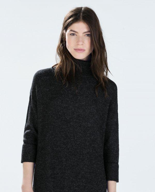 Zara High-Neck Straight Dress