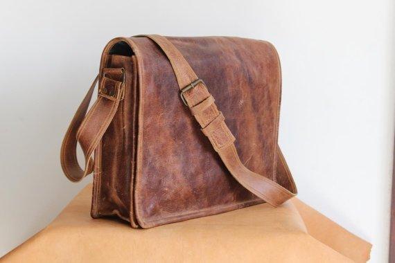 Leather Messenger Bag, Leather Satchel Bag
