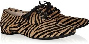 Miu Miu Zebra Print Suede Brogues