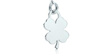 Tiffany Four-leaf Clover Tag Charm
