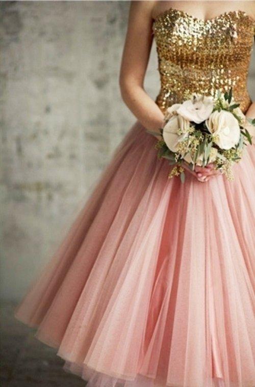 Pink, White & Gold