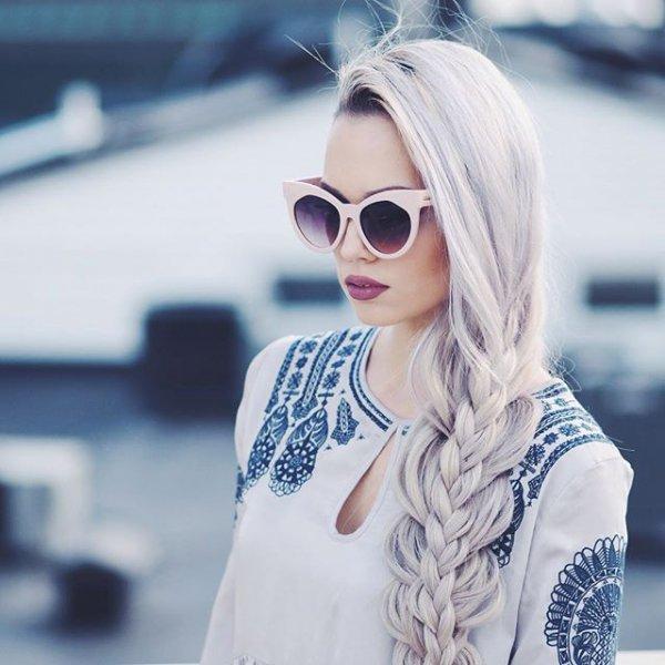 clothing, eyewear, blond, hair, vision care,