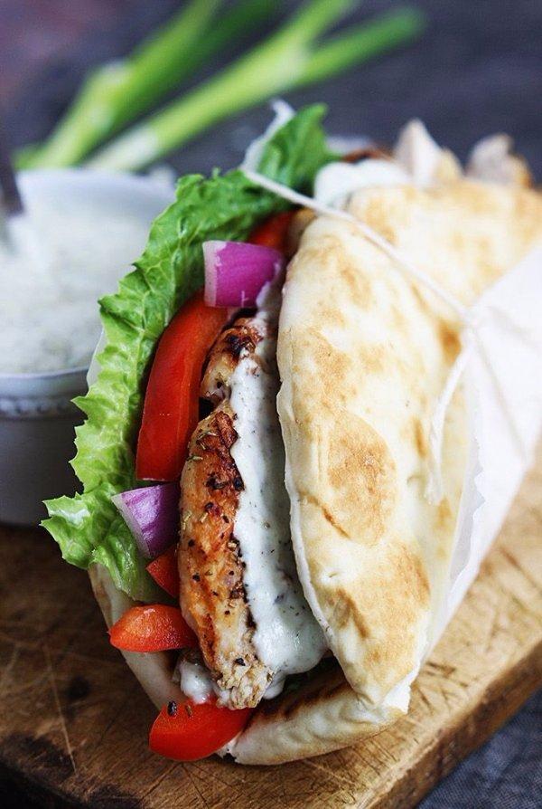 Chicken Gyros & Tzatziki Sauce