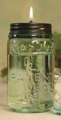 Citronella Lamp Mason Jar