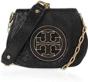 Tory Burch Amanda Snake-Effect Leather Shoulder Bag