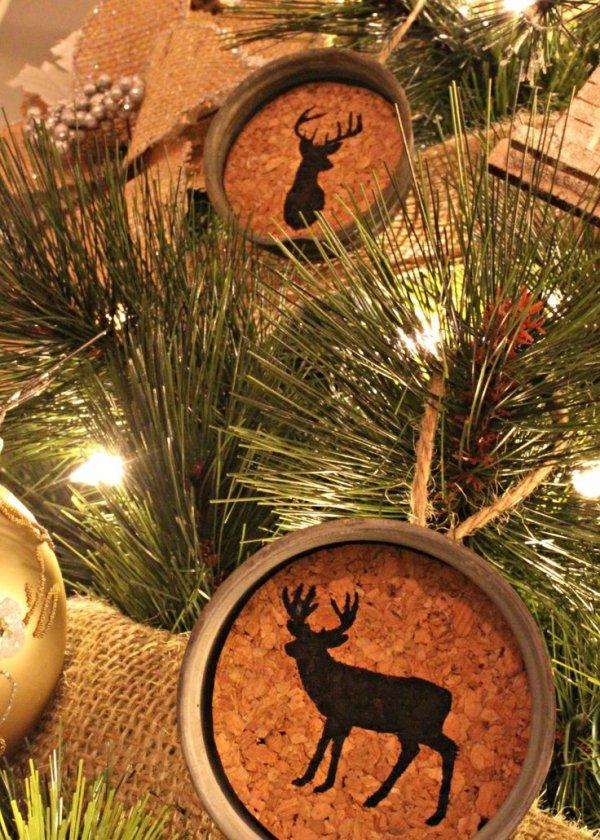 Mason Jar Cork Ornaments