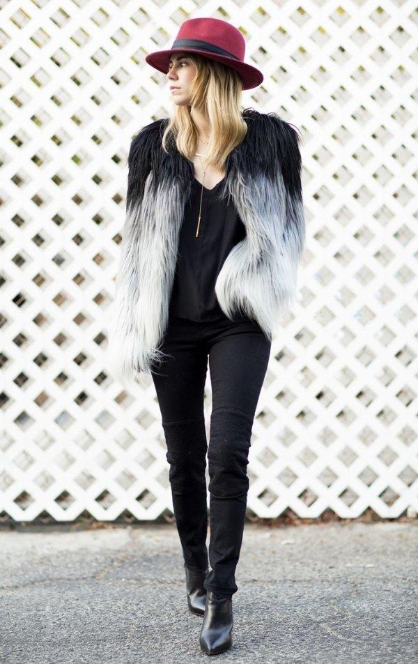 clothing,cap,footwear,fur,outerwear,