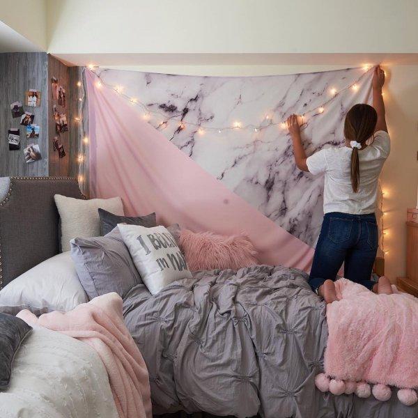 room, bedroom, wall, bed, furniture,