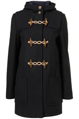 Topshop Wool Toggle Duffel Coat