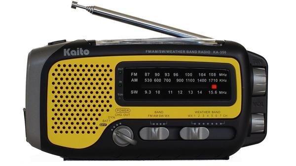 Voyager Trek Solar/Crank Weather Radio with 5-LED Flashlight