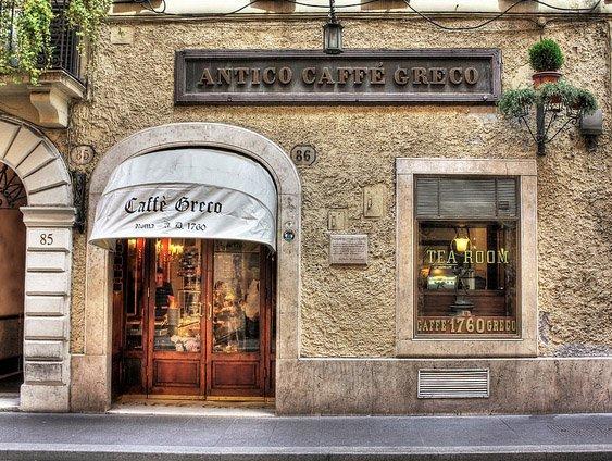 Cafe Greco in Rome