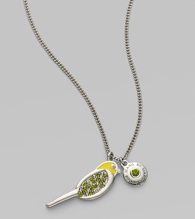 Marc by Marc Jacobs Grosbeak Fauna Pendant Necklace