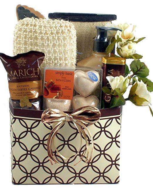 gift basket, basket, hamper, gift, wine bottle,