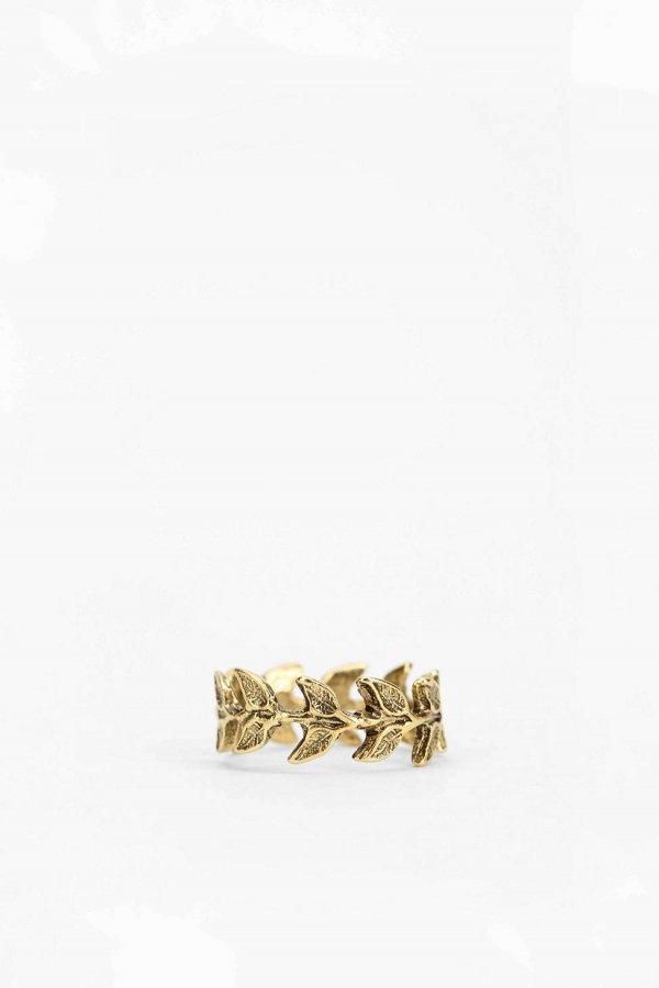 Leafy Midi Ring- Gold 4