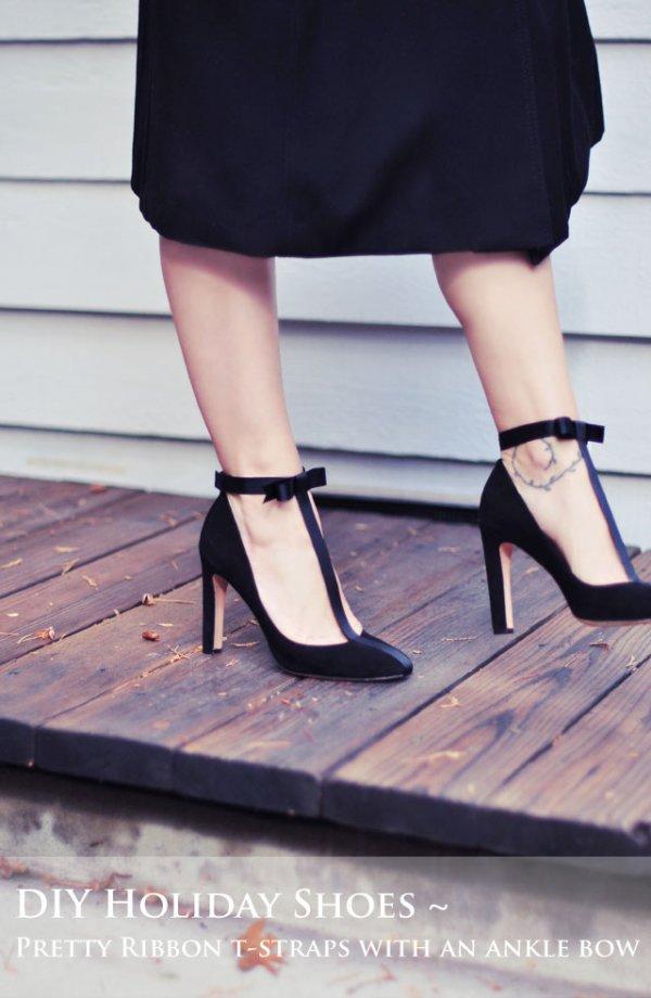 Bow T-Strap Heels