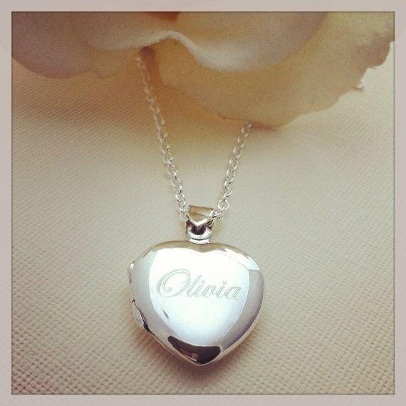 Little Girls Personalized Heart Locket