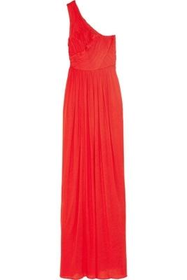 Tibi One Shoulder Fine-Jersey Gown