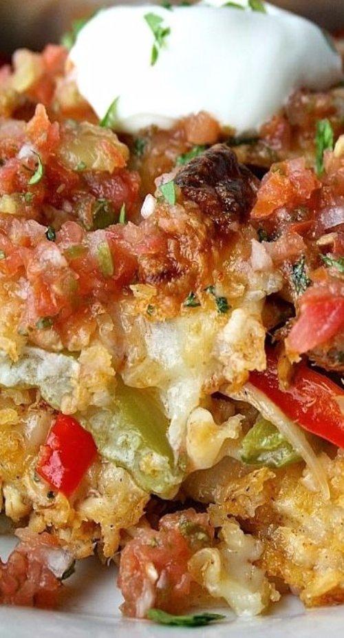 Chicken Fajitas Casserole