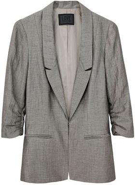 Richard Chai Love Striped Linen Blazer