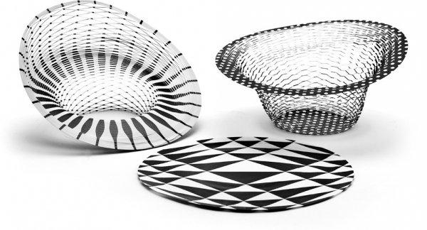 Air Vase Black & White, Pack of 3