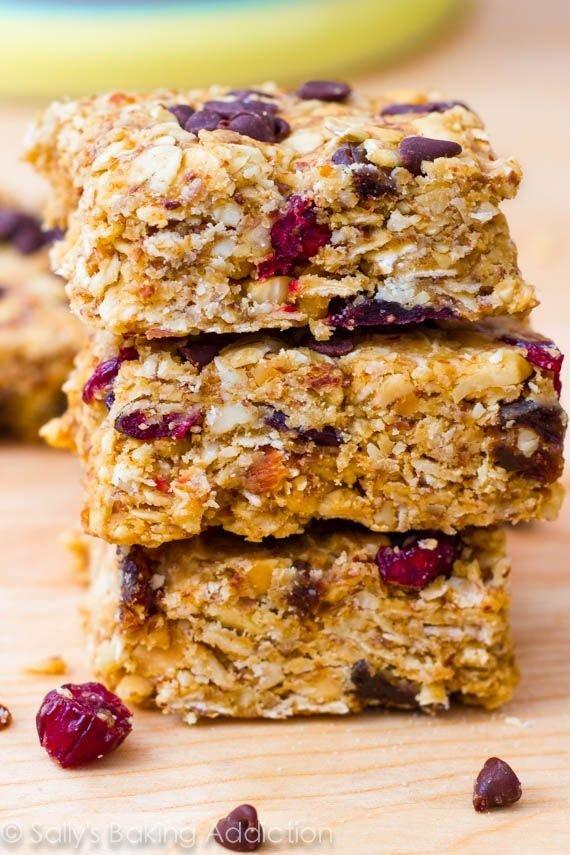 No-Bake Healthy Peanut Butter Trail Mix Bars