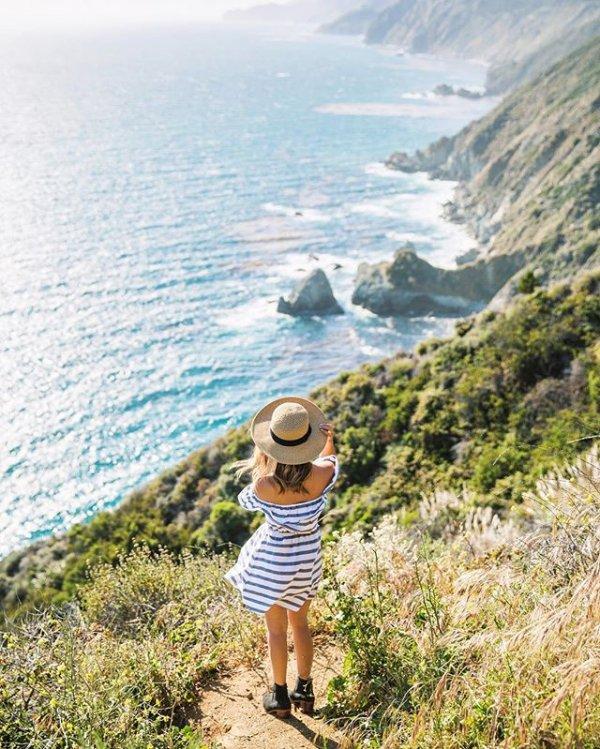 vacation, coast, shore, sea, cliff,