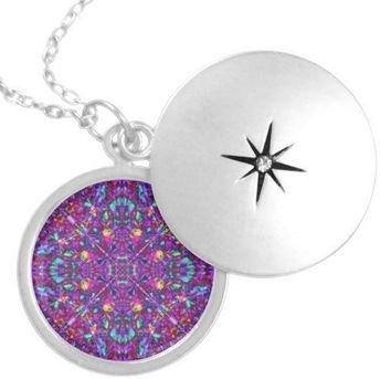 Purple Mandala Pendant