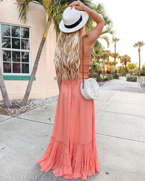 Clothing, Dress, Pink, Shoulder, Fashion,