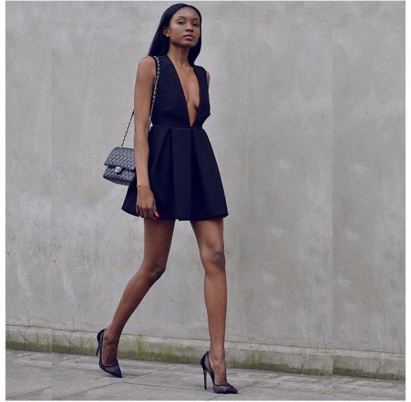 clothing, footwear, dress, sleeve, little black dress,
