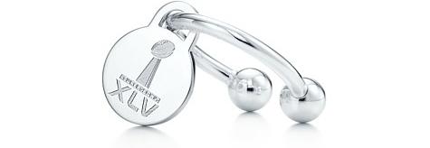 Super Bowl XLV round Tag Key Ring