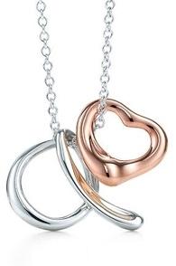 Elsa Peretti Alphabet Pendant with Open Heart Charm
