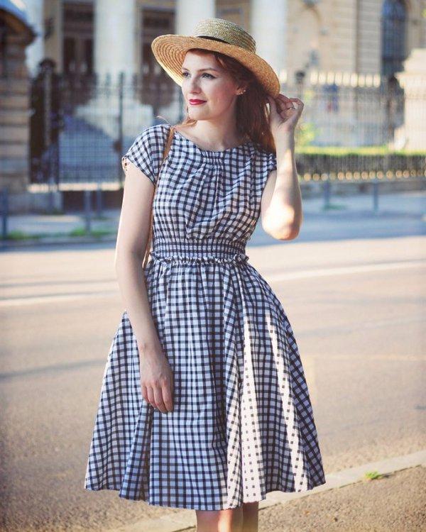 clothing, dress, blue, girl, pattern,