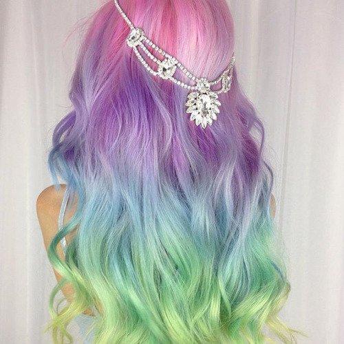 Mermaid Hair Coloring