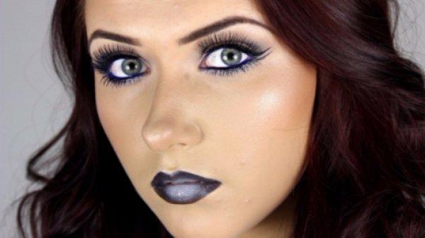 With Dark Lipstick