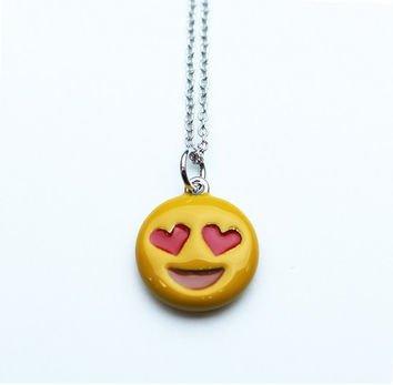 Heart Eyes Emoji Necklace