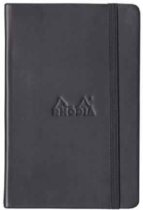 Black Webnotebook 5.5x8.25 Dot Grid