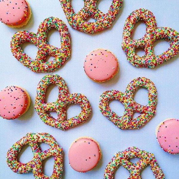 pink, heart, font, dessert, food,