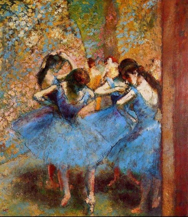 Dancers in Blue - Degas