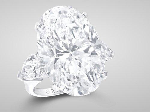 Graff Oval-Cut Diamond Ring